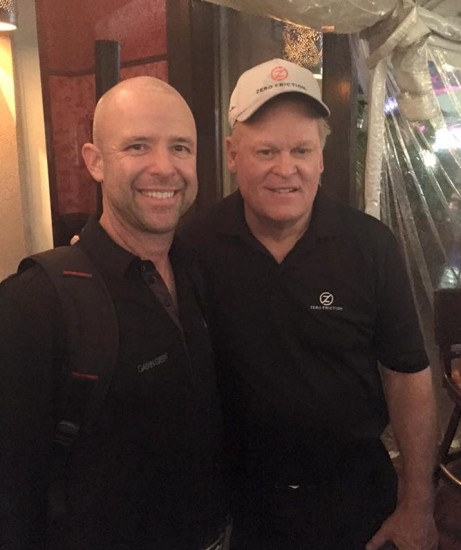 Rob Labritz, Director of Golf at Glenarbor Golf Club with Johnny Miller at the Zero Restriction event in Orlando, FL on Jan. 28.