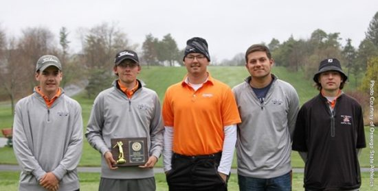 The Cobleskill Fighting Tigers win the 10th Annual Laker Invitational at Oswego St. April 29-May 1. Photo: Oswego St.