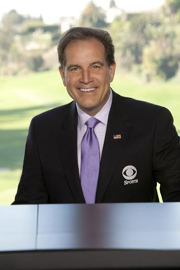 CBS Sports golf anchor Jim Nantz. Photo: Monty Brinton/CBS © 2013 CBS Broadcasting Inc. All Rights Reserved